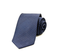 Micro Dot Navy Tie